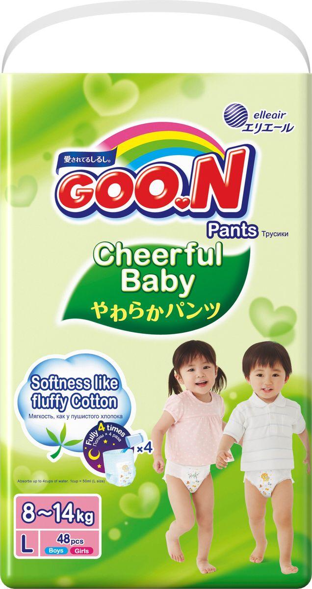 GOON Подгузники-трусики Cheerful L 8-14 кг 48 шт - Подгузники и пеленки