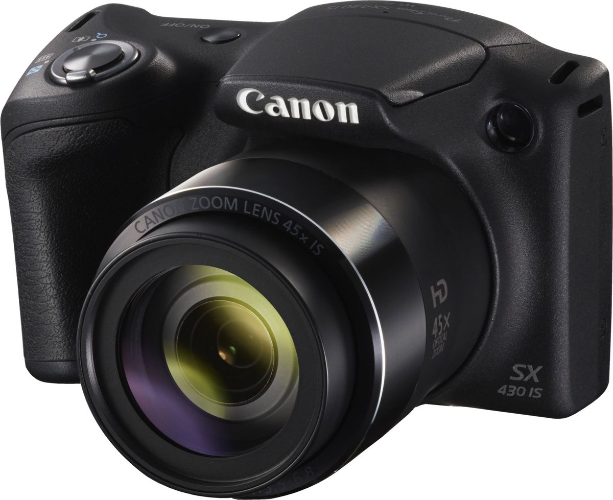 Canon PowerShot SX430 IS, Black компактная фотокамера1790C002Запечатлейте каждую деталь важных событий на фотографиях и видеороликах благодаря удобной миниатюрной камере Canon PowerShot SX430 IS с большим 45-кратным зумом и широкими возможностями подключения.Создавайте детализированные фотографии и видеоролики с помощью этой универсальной компактной камеры с 45-кратным зумом. Режим Smart Auto, простое подключение к смартфону и интересные творческие режимы позволяют легко создавать и делиться великолепными фотографиями и HD-видео.Наслаждайтесь исключительными изображениями лучших памятных моментов благодаря разрешению 20,0 МП и системе интеллектуальной стабилизации изображения, которая позволяет получать четкие фотографии и плавные видеороликиС помощью приложения Canon Camera Connect легко делиться с друзьями яркими моментами и использовать смартфон или планшет в качестве пульта ДУ. Подключайтесь к устройствам с помощью Wi-Fi и NFC.Получайте фантастические результаты без лишних усилий в режиме Smart Auto, а затем экспериментируйте используя удобные творческие режимы. Добавьте на изображение отметки с датой, чтобы с легкостью воспроизводить хронологию памятных событий.Снимайте оригинальные видеоролики в формате HD (720p) одним нажатием кнопки. Оцените плавную видеосъемку даже при съемке с рук или при зумировании благодаря динамическому стабилизатору изображения.