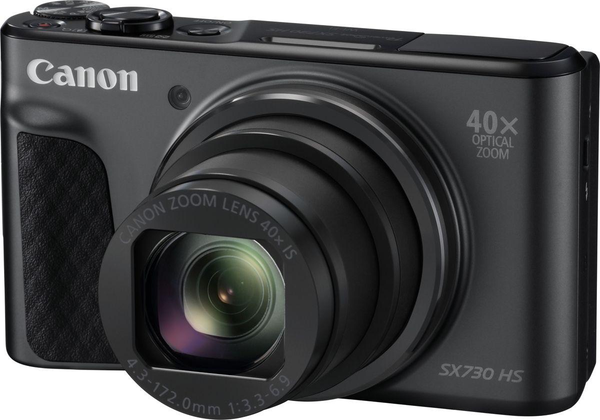 Canon PowerShot SX730 HS, Black компактная фотокамера1791C002Создавайте потрясающие снимки даже на ходу с помощью универсальной карманной камеры Canon PowerShot SX730 HS с мощным зумом 40x, сетевыми возможностями и многочисленными творческими функциями.Широкие возможности для съемки в путешествиях. Эта универсальная карманная камера легко подключается к смартфону, а широкоугольный объектив 24 мм с 40-кратным зумом позволит создавать потрясающие детализированные фотографии и видео Full HD и днем, и ночью.Легко снимайте удаленные объекты с помощью этой карманной камеры с мощным универсальным оптическим зумом 40x и системой интеллектуальной стабилизации изображения для четких детализированных снимков даже с большого расстояния.Система HS с датчиком 20,3 МП позволяет создавать резкие фото в любое время суток. Ловите спонтанные моменты благодаря быстрой серийной съемке и создавайте интересные селфи с помощью поворотного ЖК-экрана.Снимайте видео в режиме Full HD 60кадр./сек. одним нажатием кнопки. Оцените плавное видео даже при увеличении или съемке на ходу благодаря динамической стабилизации по 5 осям.Легкое подключение к мобильному устройству и поддержка непрерывного соединения с помощью Bluetooth для удаленного управления съемкой и мгновенной публикации результатов в сети.Просто наводите и снимайте в режиме Hybrid Auto, который сам выбирает оптимальные параметры, или попробуйте себя в творческой фотографии с полностью ручным управлением. Как выбрать фотоаппарат и какие они бывают – статья на OZON Гид.