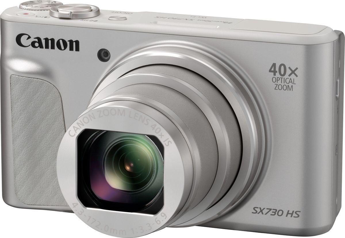 Canon PowerShot SX730 HS, Silver компактная фотокамера1792C002Создавайте потрясающие снимки даже на ходу с помощью универсальной карманной камеры Canon PowerShot SX730 HS с мощным зумом 40x, сетевыми возможностями и многочисленными творческими функциями.Широкие возможности для съемки в путешествиях. Эта универсальная карманная камера легко подключается к смартфону, а широкоугольный объектив 24 мм с 40-кратным зумом позволит создавать потрясающие детализированные фотографии и видео Full HD и днем, и ночью.Легко снимайте удаленные объекты с помощью этой карманной камеры с мощным универсальным оптическим зумом 40x и системой интеллектуальной стабилизации изображения для четких детализированных снимков даже с большого расстояния.Система HS с датчиком 20,3 МП позволяет создавать резкие фото в любое время суток. Ловите спонтанные моменты благодаря быстрой серийной съемке и создавайте интересные селфи с помощью поворотного ЖК-экрана.Снимайте видео в режиме Full HD 60кадр./сек. одним нажатием кнопки. Оцените плавное видео даже при увеличении или съемке на ходу благодаря динамической стабилизации по 5 осям.Легкое подключение к мобильному устройству и поддержка непрерывного соединения с помощью Bluetooth для удаленного управления съемкой и мгновенной публикации результатов в сети.Просто наводите и снимайте в режиме Hybrid Auto, который сам выбирает оптимальные параметры, или попробуйте себя в творческой фотографии с полностью ручным управлением. Как выбрать фотоаппарат и какие они бывают – статья на OZON Гид.