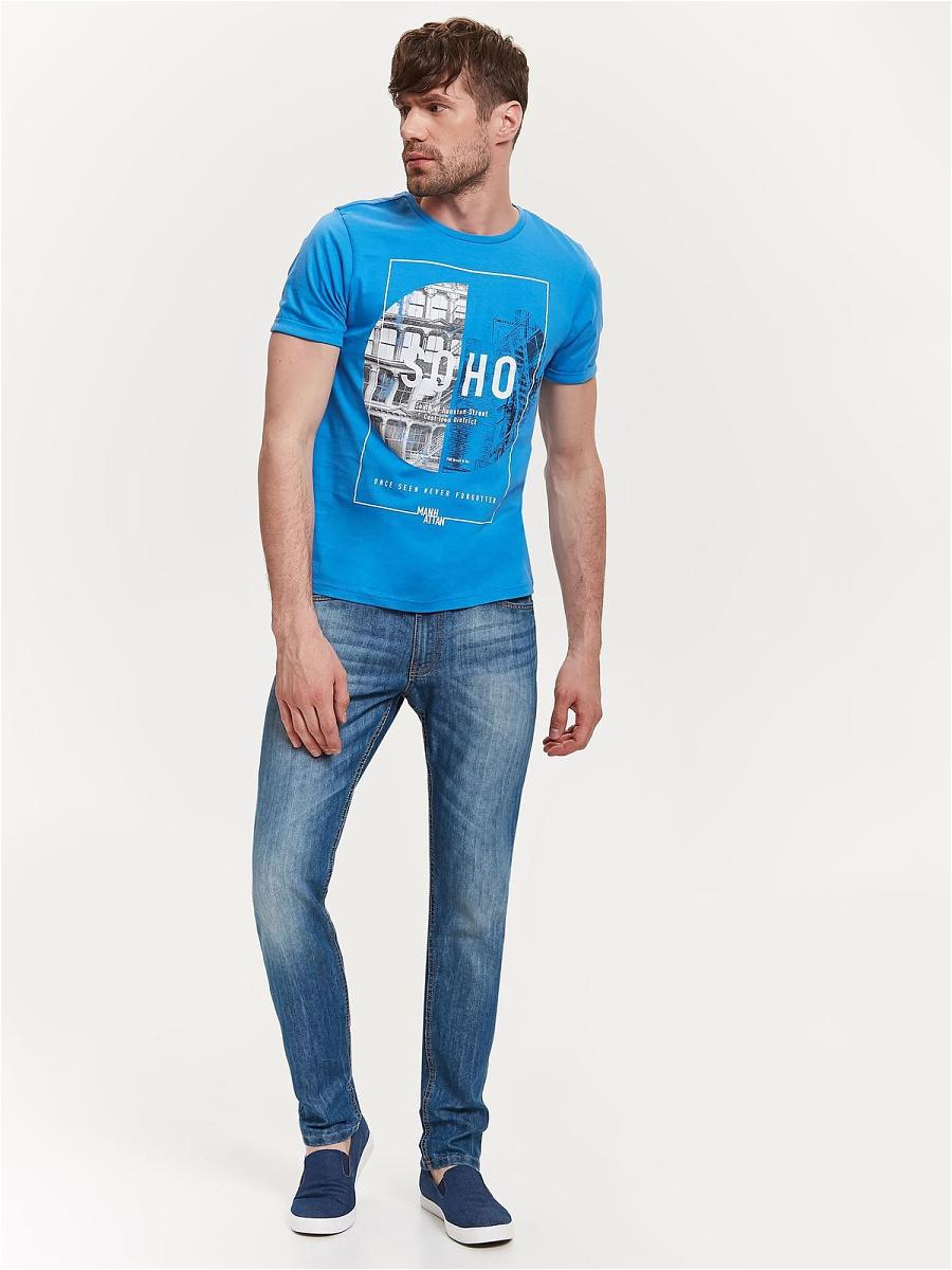 Джинсы мужские Top Secret, цвет: синий. SSP2613GR. Размер 32J (48-34)SSP2613GRСтильные мужские джинсы Top Secret - джинсы великолепного качества на каждый день, которые прекрасно сидят. Модель зауженного к низу кроя и средней посадки изготовлена из высококачественного материала, не сковывает движения. На поясе имеются шлевки для ремня. Спереди модель оформлены двумя втачными карманами и одним небольшим секретным кармашком, а сзади - двумя накладными карманами. Джинсы оформлены легким эффектом потертости. Эти модные и в тоже время комфортные джинсы послужат отличным дополнением к вашему гардеробу. В них вы всегда будете чувствовать себя уверенно и комфортно.