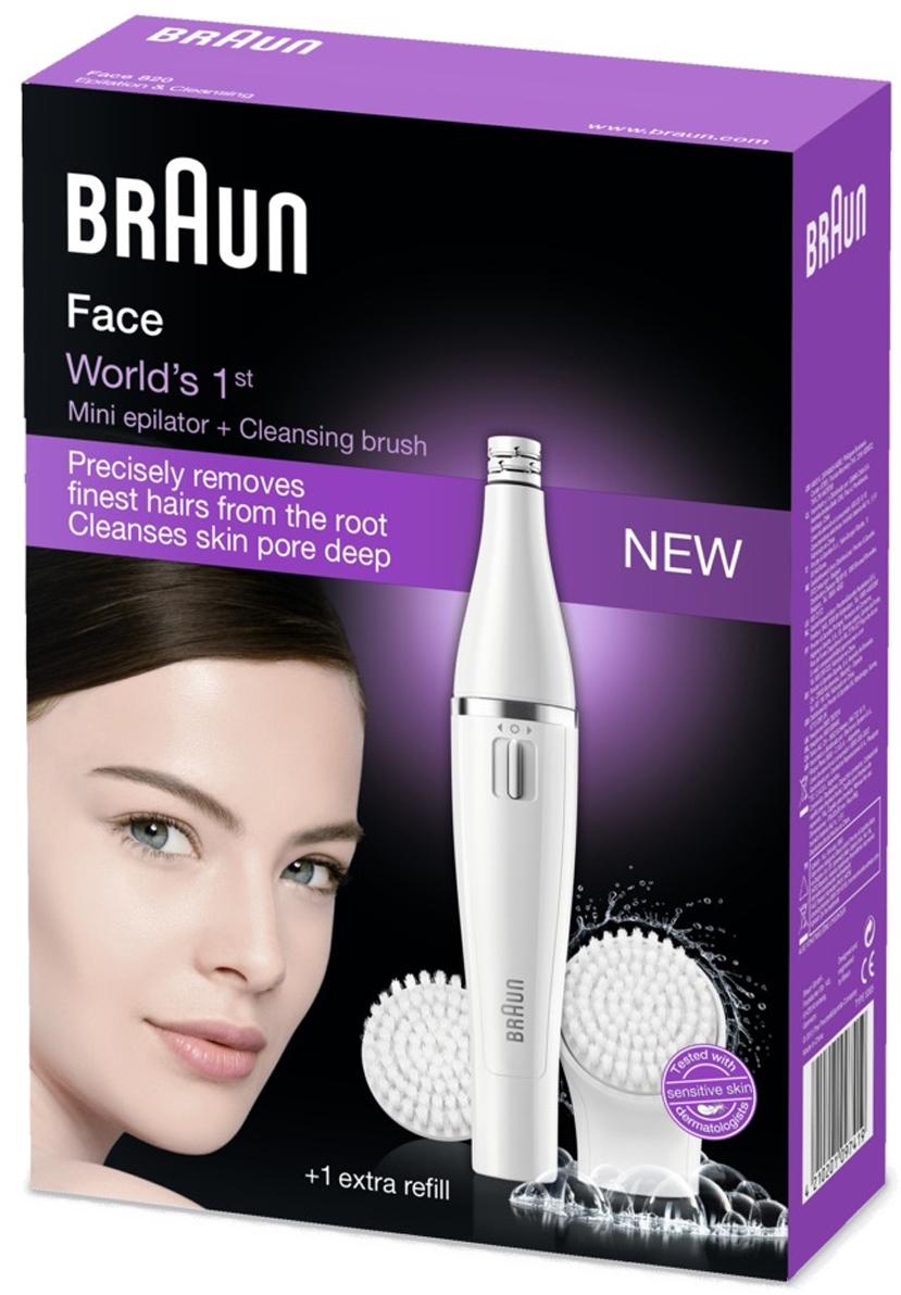 Braun SE 820эпилятор для лица c очищающей насадкой Braun