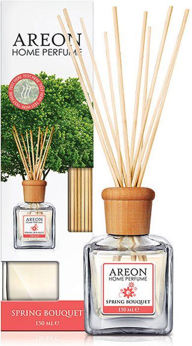 Ароматизатор интерьерный Areon Весениий букет, 150 мл704-HPS-06Ароматизатор наполнит ваш дом свежими запахами. Вставьте палочки в ароматизатор - и волшебные ароматы распространяться по всему помещению. Товар сертифицирован.