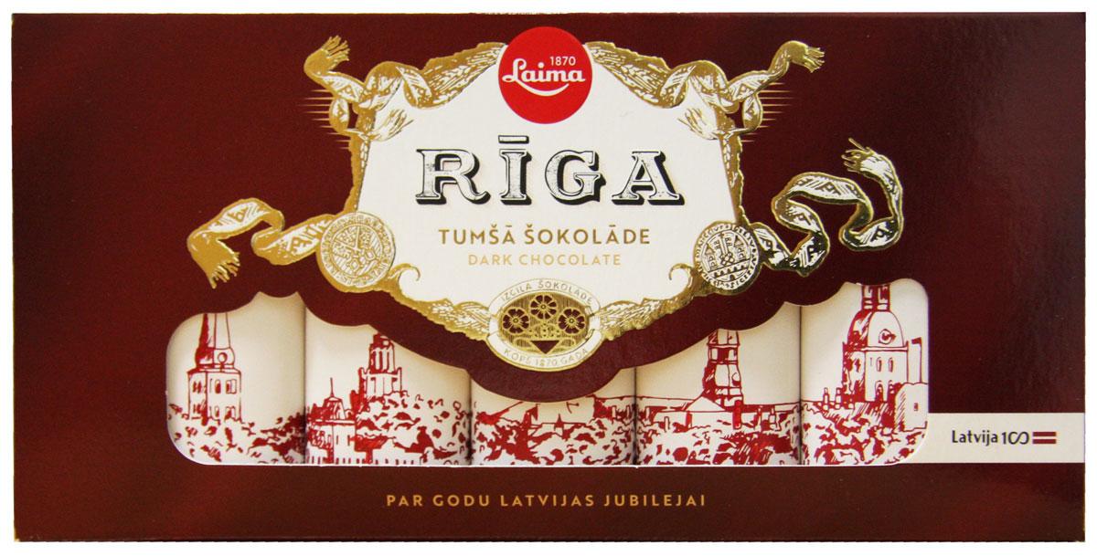 Laima Рига Люкс темный шоколад, 5 шт по 20 г laima горький шоколад 70% 100 г