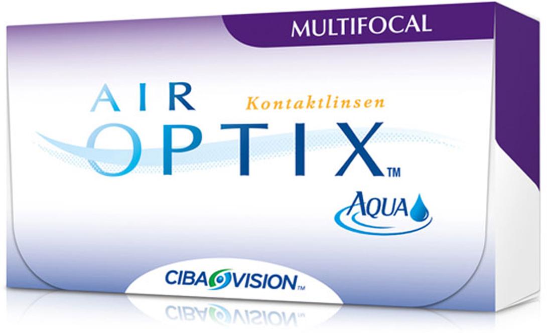 Alcon-CIBA Vision контактные линзы Air Optix Aqua Multifocal (3шт / 8.6 / 14.2 / -0.75 / Med)39478Контактные линзы Air Optix Aqua Multifocal предназначены для коррекции возрастной дальнозоркости. Если для работы вблизи или просто для чтения вам необходимо использовать очки, то эти линзы помогут вам избавиться от них. В линзах Air Optix Aqua Multifocal вы будете одинаково четко видеть как предметы, расположенные вблизи, так и удаленные предметы. Линзы изготовлены из силикон-гидрогелевого материала лотрафилкон В, который пропускает в 5 раз больше кислорода по сравнению с обычными гидрогелевыми линзами. Они настолько комфортны и безопасны в ношении, что вы можете не снимать их до 6 суток.Но даже если вы не собираетесь окончательно сменить очки на линзы, мы рекомендуем вам иметь хотя бы одну пару таких линз для экстремальных ситуаций, например для занятий спортом. Контактные линзы Air Optix Aqua Multifocal имеют три степени аддидации: Low (низкую) до +1,00; Medium (среднюю) от +1,25 до +2,00 и High (высокую) свыше +2,00. Характеристики:Материал: лотрафилкон Б. Кривизна: 8.6. Оптическая сила: -0,75. Содержание воды: 33%. Диаметр: 14,2 мм. Cтепень аддидации: Medium (средняя). Количество линз: 3 шт. Размер упаковки: 9 см х 5 см х 1 см.Контактные линзы или очки: советы офтальмологов. Статья OZON Гид