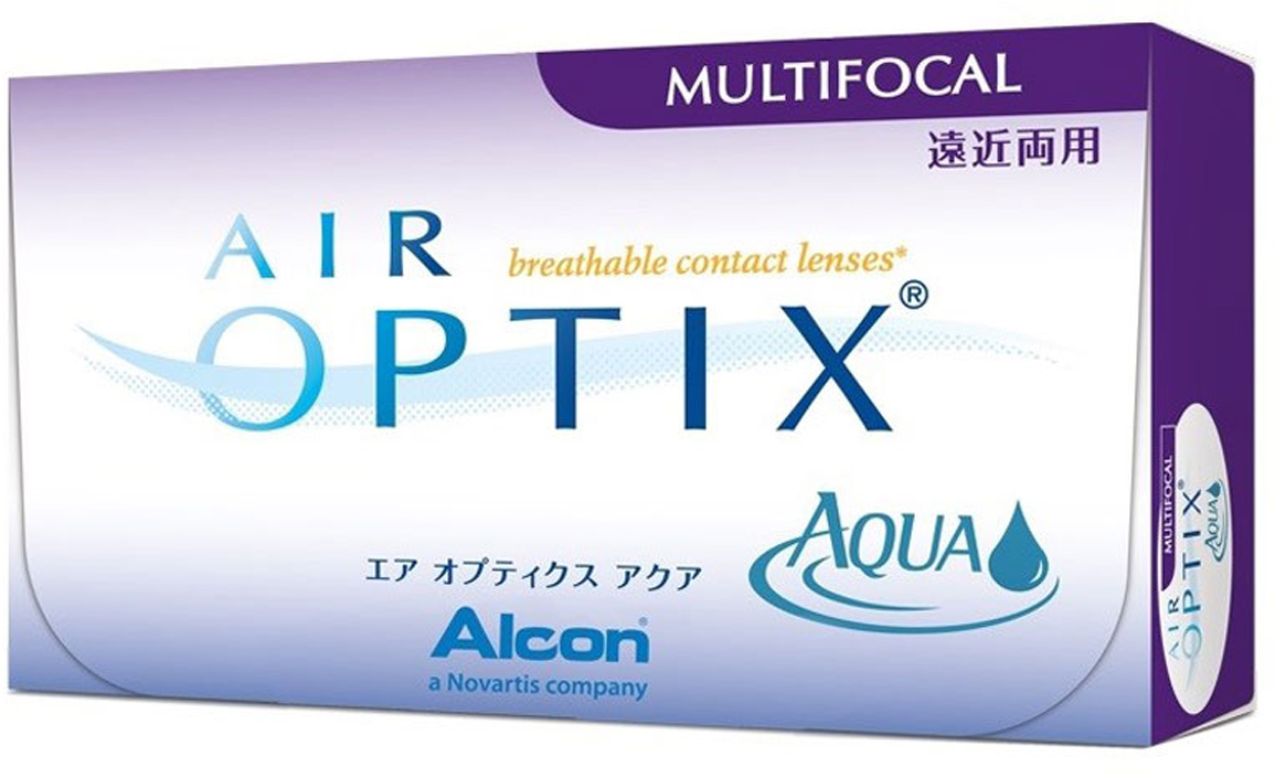 Alcon-CIBA Vision контактные линзы Air Optix Aqua Multifocal (3шт / 8.6 / 14.2 / -5.50 / Med)