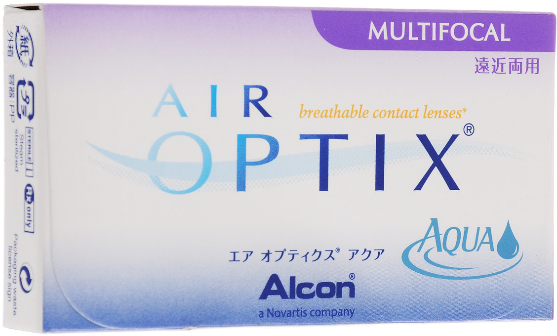 Alcon-CIBA Vision контактные линзы Air Optix Aqua Multifocal (3шт / 8.6 / 14.2 / -4.25 / Med)