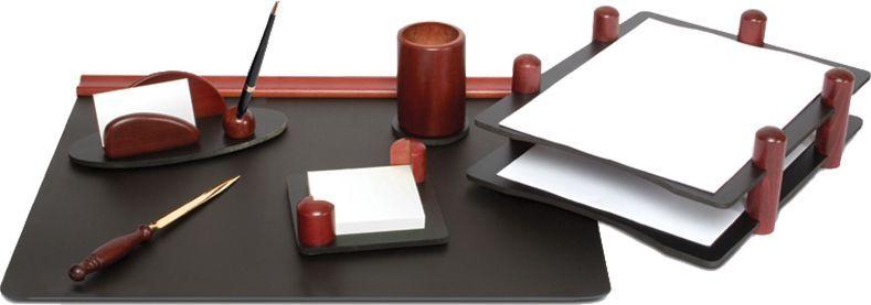 Delucci Настольный канцелярский набор 6 предметов цвет красное дерево -  Канцелярские наборы
