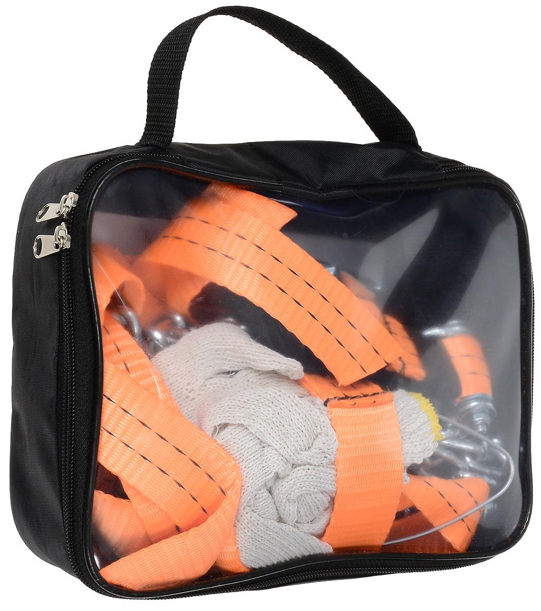 Браслеты-цепи противоскольжения Антей, цвет: оранжевый, размер шин 155/65-220/60, 9 предметовА 500Браслеты-цепи противоскольжения Антей для кроссоверов и внедорожников. Подходят для шин с шириной профиля от 195 до 295 мм. R 16-22. В комплект входит: - браслеты-цепи - 4 шт., - крючок для монтажа, - сумка, - инструкция, - перчатки. Комплект предназначен для самоспасения застрявшего автомобиля и преодоления коротких участков бездорожья. Браслеты-цепи устанавливаются без поддомкрачивания автомобиля. Ширина ленты: 40 мм Диаметр прутка цепи: 5 мм. Особенности:Прокладка для защиты диска от повреждений,Усиленный замок.