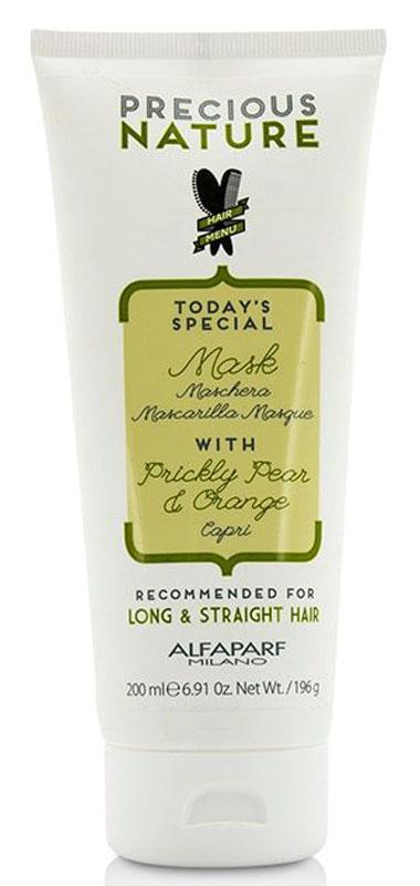 Alfaparf Precious Nature Mask for Long and Straight Hair Маска для длинных и прямых волос, 200 мл12514Маска с эффектом anti-frizz обеспечивает невероятную гладкость и блеск волос до самых кончиков, не утяжеляя их. Масло опунции* делает волосы мягкими, а экстракт апельсина* придает сияние. *100% натуральный ингредиент. НЕ СОДЕРЖИТ: сульфатов, парабенов, парафинов, минеральных масел, синтетических веществ, аллергенов *гипоаллергенные экстракты растений и ароматизаторы Объем: 500 мл
