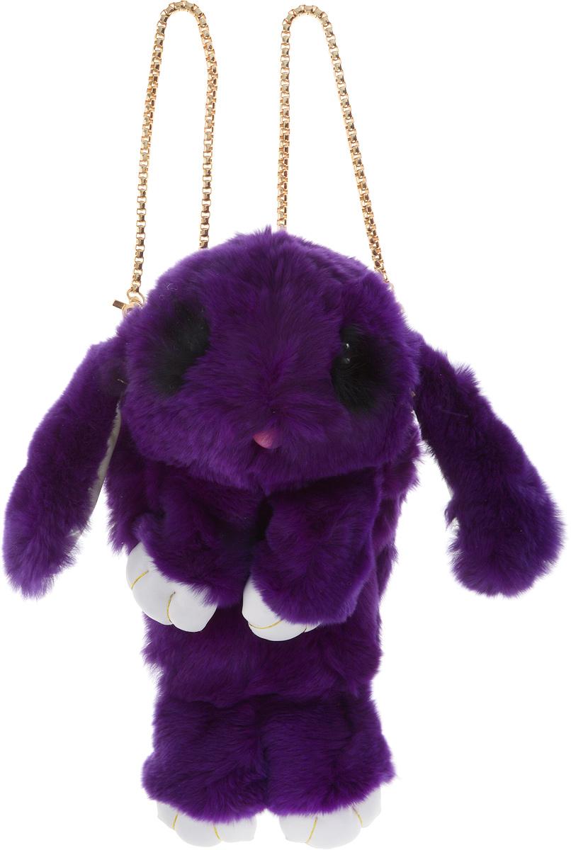 Рюкзак детский Пушистый кролик цвет темно-фиолетовыйРК-503_темно-фиолетовыйРюкзак в виде красивого пушистого кролика из искусственного меха является отличным способом выделиться и подчеркнуть свою индивидуальность и хороший вкус.Такую сумочку можно носить через плечо, а продев металлический ремешок через среднее кольцо-держатель, сумочка превращается в рюкзак.При прикосновении к такому аксессуару обладатель попадает в мир великолепной нежности. Очень мягкий на ощупь мех красивого цвета разнообразит современный гардероб, а также сделает образ полностью завершенным. Такой рюкзак не оставит обладателя равнодушным и без пристального внимания со стороны окружающих!Лапки кролика и обратная сторона ушек изготовлены из экокожи.Такой пушистый рюкзачок идеально подойдет в качестве подарка, как маленькой девочке, так и юной моднице.