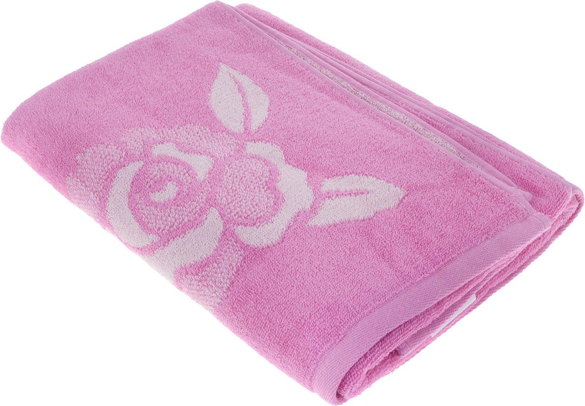 Полотенце банное Aquarelle Розы 1, 70 х 140 см, цвет: розовый. 710447 полотенце aquarelle бостон 1 цвет белый маренго 70 х 140 см