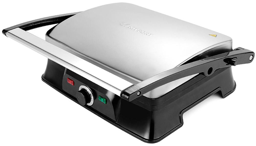 Kitfort КТ-1627 электрогрильКТ-1627Контактный электрический гриль Kitfort KT-1627 позволяет приготовлять стейки, овощи, рыбу, бутерброды, гренки и многое другое. Ребристая поверхность рабочих пластин и высокая температура приготовления способствуют удалению излишков жира из продуктов. Конструкция 2 в 1 позволяет использовать гриль в двух режимах. Для приготовления можно использовать обе поверхности. Гриль оснащен термостатом с плавной регулировкой температуры. Индикатор нагрева оповещает о том, что гриль разогрелся до установленной температуры. Нагревательные панели изготовлены из алюминия с нанесенным антипригарным покрытием.