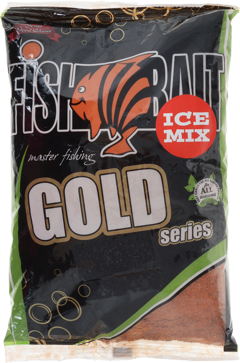 Прикормка для холодной воды FishBait Ice Gold, универсальная, с протеином, зимняя, 1 кг
