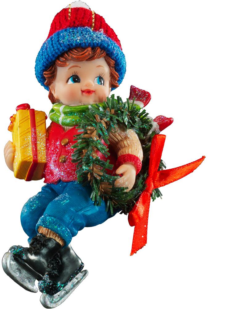 Украшение для интерьера новогоднее Erich Krause Новогодние забавы. Мальчик, высота 13 см зимние забавы раскраска