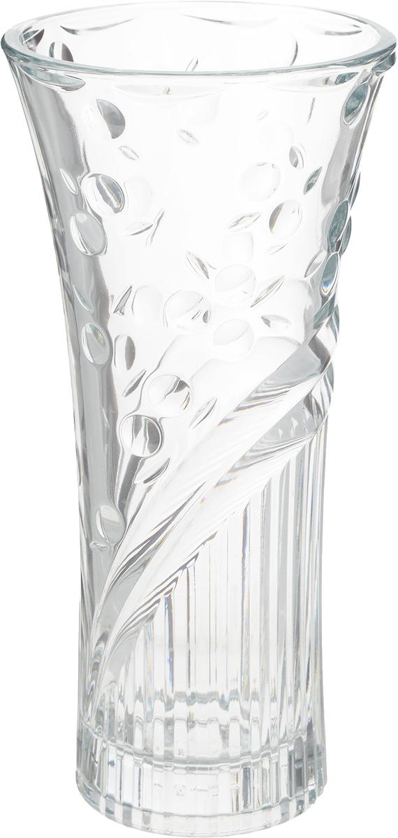 """Ваза для цветов Pasabahce """"Перла"""" оригинальной формы послужит отличным дополнением к  интерьеру вашего дома. Эксклюзивная ваза, изготовленная из силикатного стекла, подчеркнет  оригинальность интерьера и прекрасный вкус хозяина. Также ваза может стать хорошим подарком  вашим друзьям и близким.  Размеры: h=250 мм;  Диаметр горловины 120 мм."""