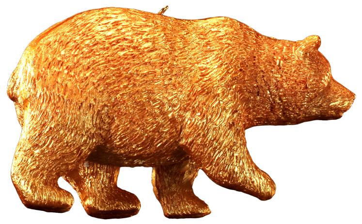 Украшение для интерьера новогоднее Erich Krause Золотой зверь. Медведь, 10 см43888_медведьФигурка обитателя леса выполнена из полирезины в насыщенном золотом цвете. Украшение достаточно тяжелое и больше подходит для искусственных елок. Новогодние украшения всегда несут в себе волшебство и красоту праздника. Создайте в своем доме атмосферу тепла, веселья и радости, украшая его всей семьей.