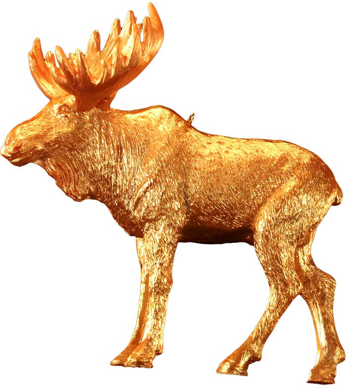 Украшение для интерьера новогоднее Erich Krause Золотой зверь. Лось, 10 см43888_лосьФигурка обитателя леса выполнена из полирезины в насыщенном золотом цвете. Украшение достаточно тяжелое и больше подходит для искусственных елок. Новогодние украшения всегда несут в себе волшебство и красоту праздника. Создайте в своем доме атмосферу тепла, веселья и радости, украшая его всей семьей.