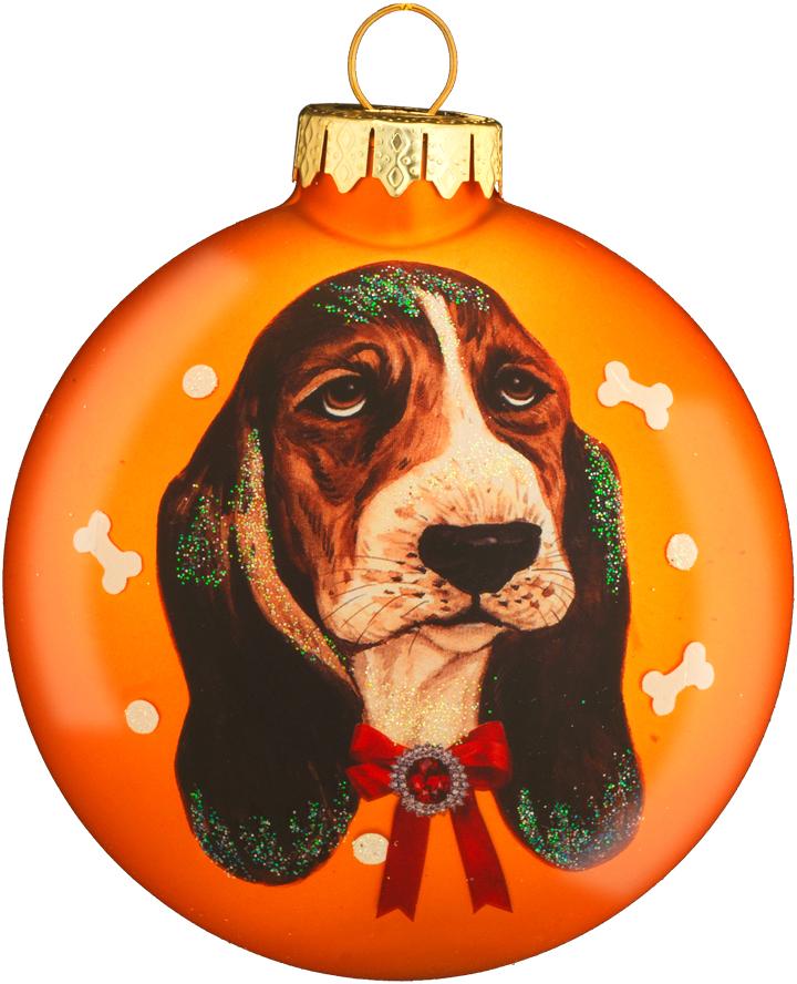 Украшение для интерьера новогоднее Erich Krause Любимец мечтательный. Вид 2, 8,5 см43778_вид 2Медальон выполнен из матового стекла высокого качества. С одной стороны на украшение нанесен портрет собаки, на обороте - след собачьей лапы (мопс) или кость (бассет). Новогодние украшения всегда несут в себе волшебство и красоту праздника. Создайте в своем доме атмосферу тепла, веселья и радости, украшая его всей семьей.
