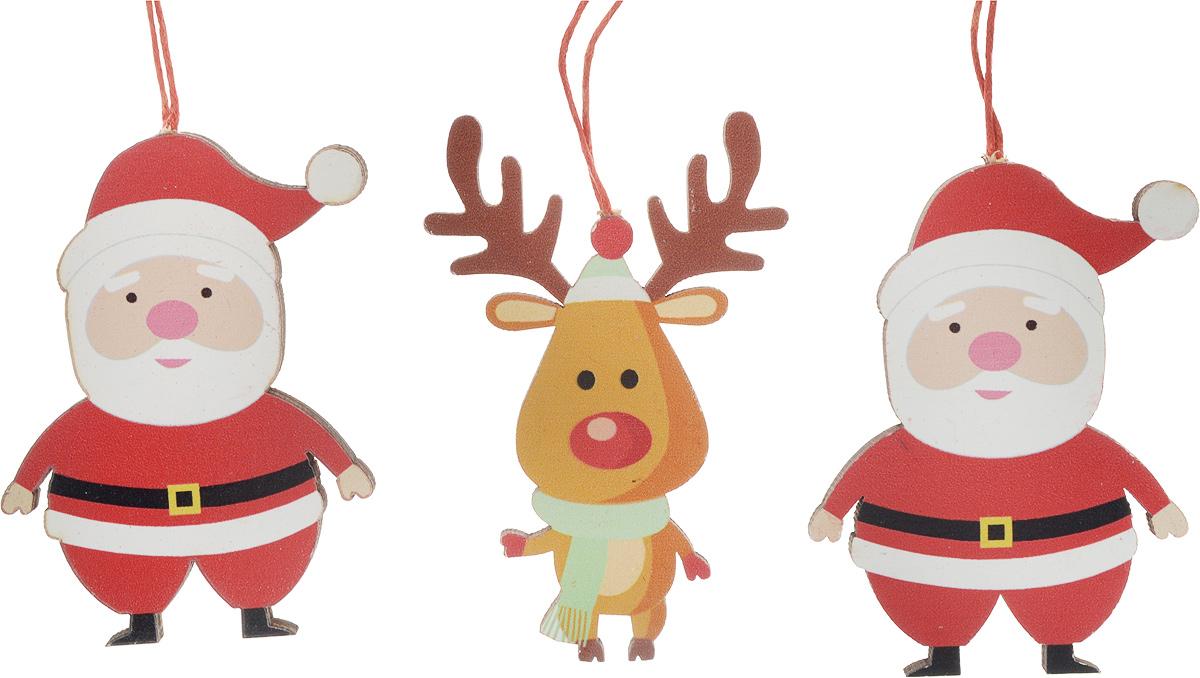 Набор новогодних украшений для интерьера Erich Krause Праздничное веселье: Дед мороз и олень, 8,5 см, 3 шт43837_Дед Мороз, оленьНабор включает в себя три украшения. Размер каждого изделия 8.5 см. Изделия плотно зафиксированы на картонной подложке.Коллекция декоративных украшений принесет в ваш дом ни с чем не сравнимое ощущение волшебства!