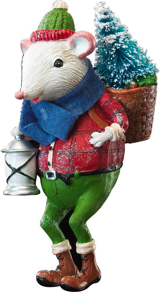 Украшение для интерьера новогоднее Erich Krause Мышиное Рождество. Елка, высота 11 см украшение для интерьера новогоднее erich krause падающая снежинка 8 5 см