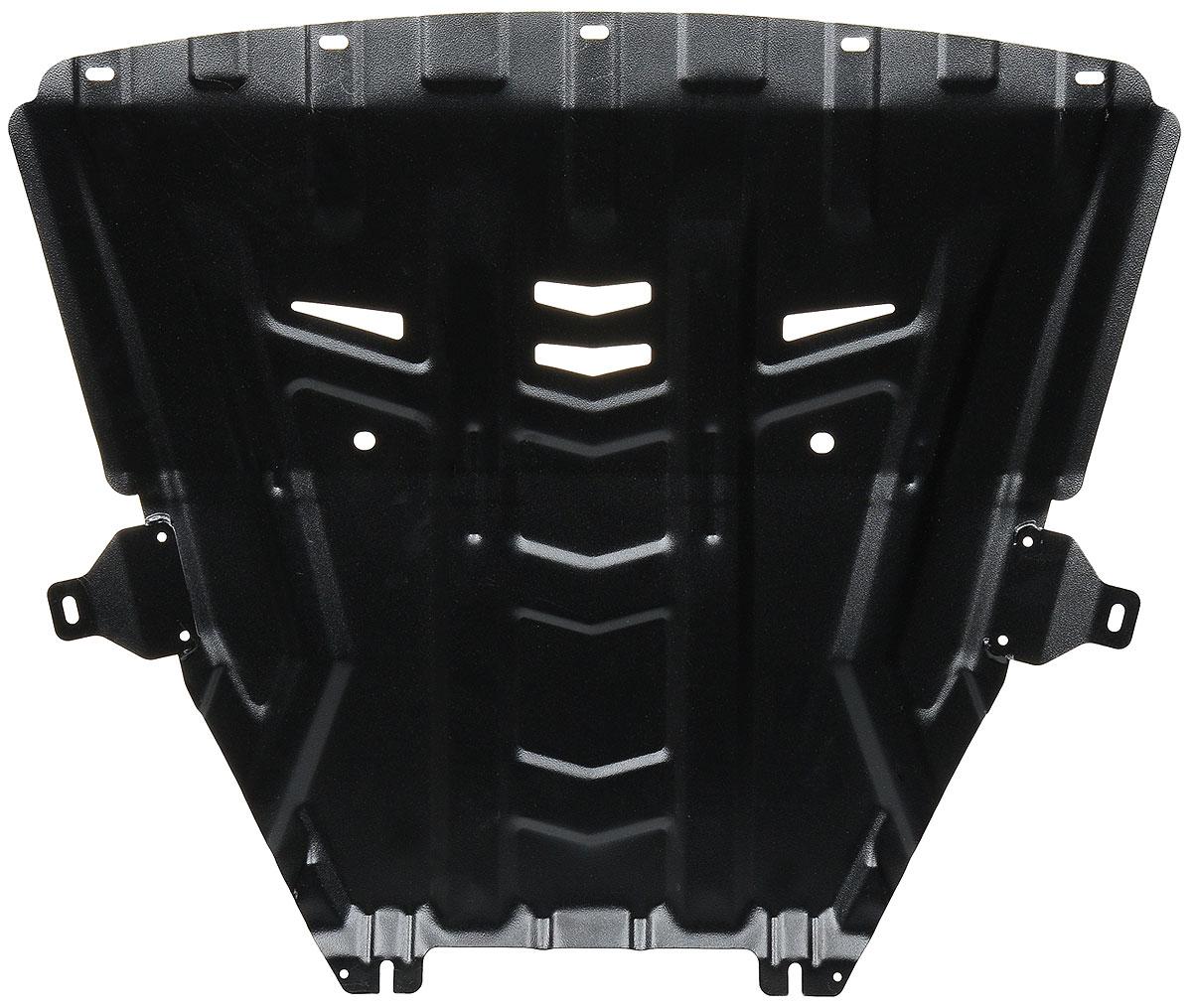 Защита картера и КПП Автоброня Lada Vesta 2015-/Lada Vesta SW 2017-, сталь 2 мм1.06029.1Защита картера и КПП Автоброня Lada Vesta, V-1,6; 1,8 2015-/Lada Vesta SW, V - 1.8 2017-, сталь 2 мм, штатный крепеж, 1.06029.1Стальные защиты Автоброня надежно защищают ваш автомобиль от повреждений при наезде на бордюры, выступающие канализационные люки, кромки поврежденного асфальта или при ремонте дорог, не говоря уже о загородных дорогах. - Имеют оптимальное соотношение цена-качество. - Спроектированы с учетом особенностей автомобиля, что делает установку удобной. - Защита устанавливается в штатные места кузова автомобиля. - Является надежной защитой для важных элементов на протяжении долгих лет. - Глубокий штамп дополнительно усиливает конструкцию защиты. - Подштамповка в местах крепления защищает крепеж от срезания. - Технологические отверстия там, где они необходимы для смены масла и слива воды, оборудованные заглушками, закрепленными на защите. Толщина стали 2 мм. В комплекте инструкция по установке. При установке используется штатный крепеж автомобиля.Уважаемые клиенты! Обращаем ваше внимание на тот факт, что защита имеет форму, соответствующую модели данного автомобиля. Наличие глубокого штампа и лючков для смены фильтров/масла предусмотрено не на всех защитах. Фото служит для визуального восприятия товара.