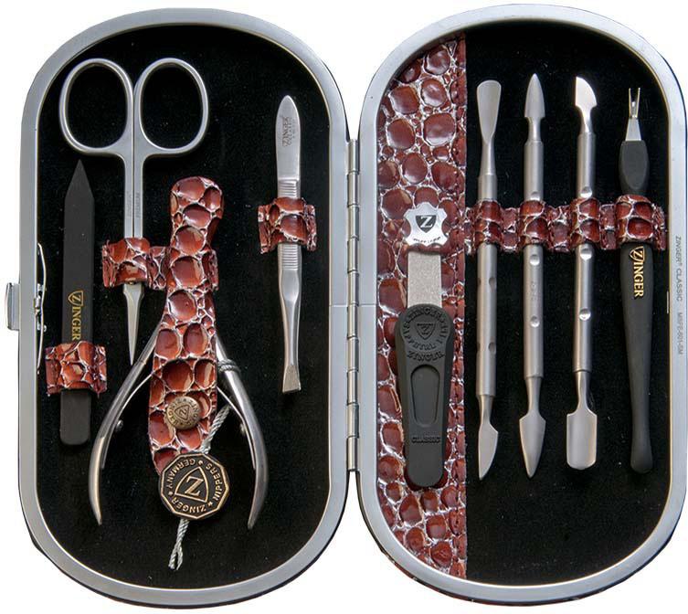 Zinger Маникюрный набор профессиональный (9 предметов) zMSFE 601-SM zinger пилка diamond тонкая с алмазным напылением 132 мм