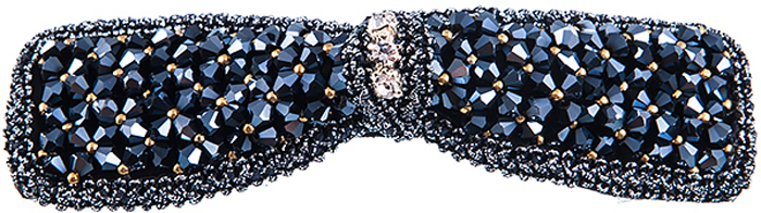 Заколка для волос Selena, цвет: синий. 7006501170065011Стильная заколка в виде бантика для волос Selena изготовлена из текстиля и декорирована сверкающими стразами.Оригинальное украшение блестяще подчеркнет красоту вашей прически, а также поможет внести разнообразие в привычный образ.