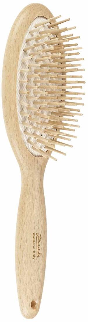 Janeke Массажная щетка для волос деревянная, пласт.зубья, SP65 - Средства и аксессуары для волос