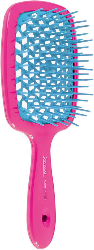 Janeke Щетка для волос. 86SP226 FUX807305Марка Janeke – мировой лидер по производству расчесок, щеток, маникюрных принадлежностей, зеркал и косметичек. Марка Janeke, основанная в 1830 году, вот уже почти 180 лет поддерживает непревзойденное качество своей продукции, сочетая новейшие технологии с традициями старых миланских мастеров. Все изделия на 80% производятся вручную, а инновационные технологии и современные материалы делают продукцию марки поистине уникальной. Стильный и эргономичный дизайн, яркие цветовые решения – все это приносит истинное удовольствие от использования аксессуаров Janeke. Цветная линия - это расчески и щетки,изготовленные из высококачественного пластика. Цвета меняются два раза в год в соответствии с последними трендами моды.