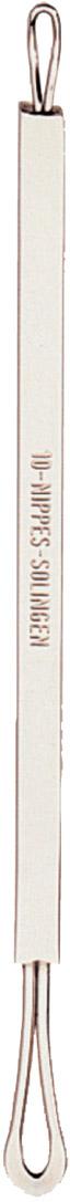 Nippes Палочка стальная для удаления комедонов. 1010Палочка для удаления угрей и черных точек из высококачественной стали. Идеальный инструмент для механической чистки лица.Длина палочки 12 смХранить в сухом недоступном для детей месте.Срок годности не ограничен.Замена изделия не осуществляется в следующих случаях:- Использование не по назначению- Самостоятельный ремонт- Нарушение условий хранения