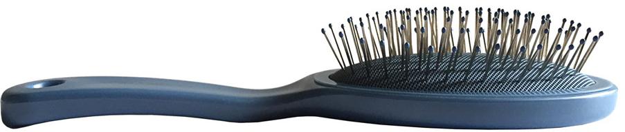 ClaretteЩетка для волос малая с метал.  зубцами, цвет:  голубой