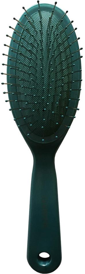 Clarette Щетка для волос на подушке с металлическими зубцами, цвет: бирюзовыйCPB 622Коллекция Clarette Перламутр- это расчески, щетки и термо-брашинги для ухода за волосами. Коллекция изготовлена из перламутрового пластика в яркой цветовой гамме. Металлические зубья с массажными шариками на концах обеспечивают деликатный массаж кожи головы, стимулируя рост волос. Уникальная форма металлических зубьев защищает их от продавливания, тем самым увеличивая срок службы щетки.