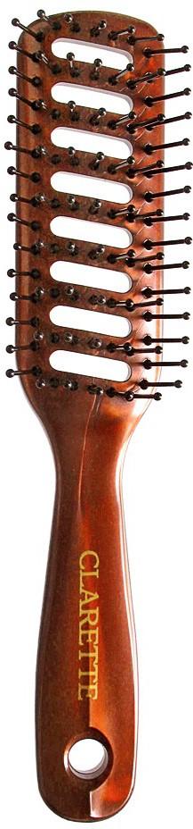 Clarette Щетка для волос вентиляционная, цвет: бордовый