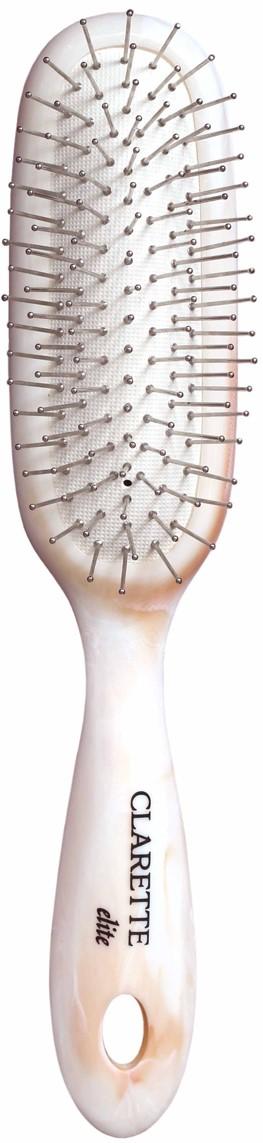 Clarette Щетка для волос на подушке с металлическими зубцами универсальная, цвет: бежевый