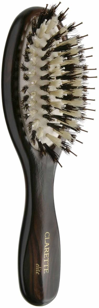 Фото Щетка для волос на подушке со смешанной щетиной компакт, цвет: коричневый