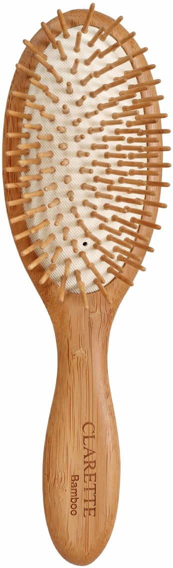 Clarette Щетка для волос на подушке с бамбуковыми зубцами, цвет: рыжий недорого