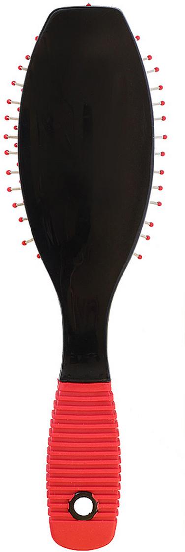 Silva Щетка для волос массажная малая с металлическими зубцами, цвет: черныйSB 462Коллекция Silva Black - это расчески, щетки и брашинги для всех типов волос. Рельефные ручки сделаны из прорезиненного материала, что делает щетку нескользящей при расчесывании и укладке. Рекомендуется для профессионалов. Металлические зубья с массажными шариками обеспечивают идеальный массаж кожи головы, стимулируют рост волос. Легко помещается в дамской сумочке.