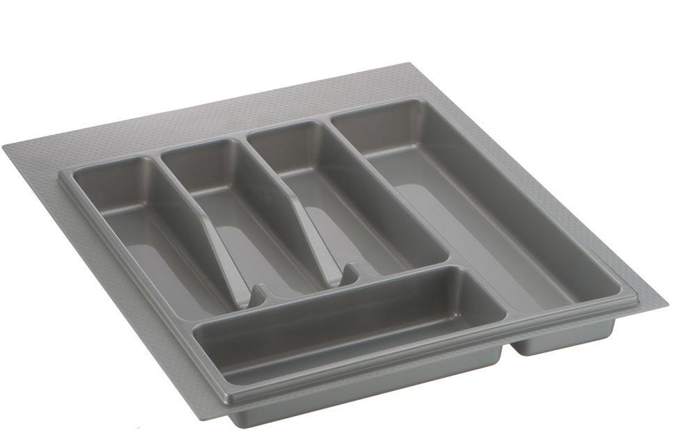 Лоток для столовых приборов Lemax, цвет: серый, 49 х 39 х 4,5 см72.M000.45Лоток для столовых приборов изготовлен из прочного и экологически чистого пластика.В такой лоток поместятся все необходимые для ежедневного использования столовые приборы.Лоток легко достать и помыть в случае необходимости. Ширина: 350-390 мм. Глубина: 380-490 мм.