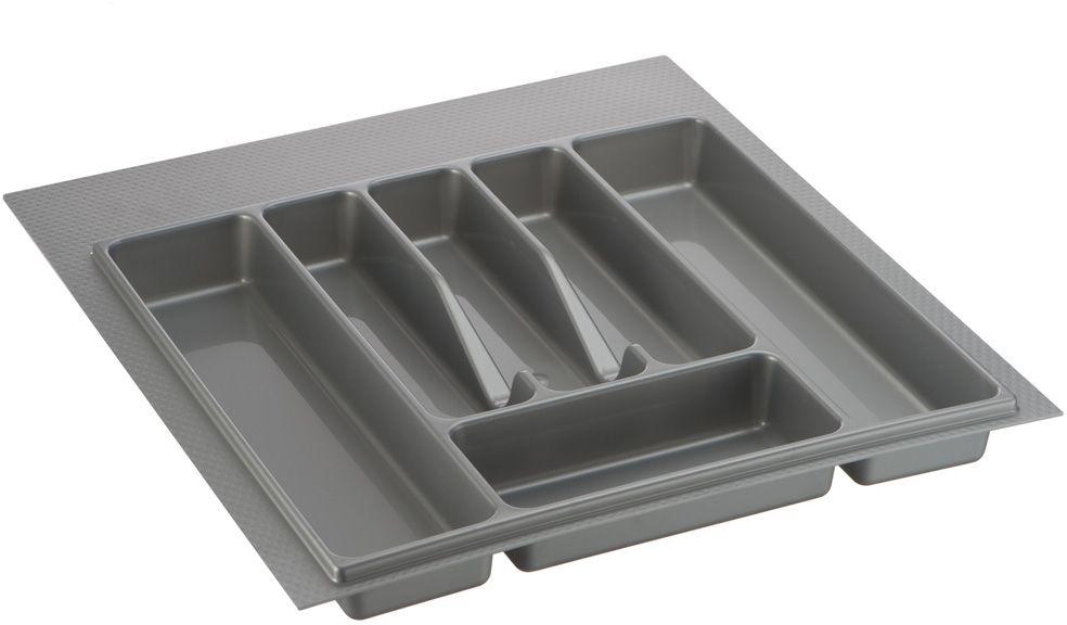 Лоток для столовых приборов Lemax, цвет: серый, 49 х 44 х 4,5 см подставка для столовых приборов cosmoplast цвет красный диаметр 14 см