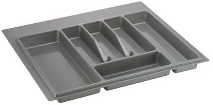 Лоток для столовых приборов Lemax, цвет: серый, 49 х 54 х 4,5 см подставка для столовых приборов cosmoplast цвет красный диаметр 14 см
