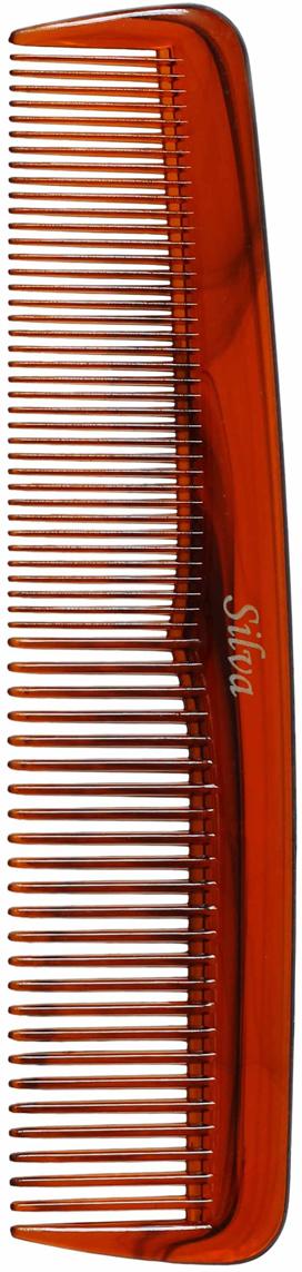 Silva Расческа для волос карманная, цвет: коричневый