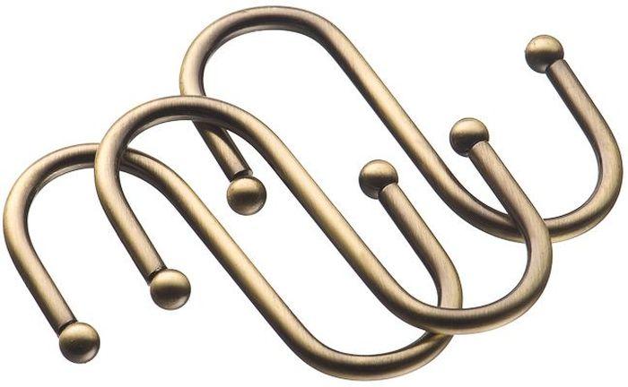 """Набор больших навесных крючков """"Lemax"""" имеет современный лаконичный дизайн отлично впишется в интерьер помещения. Изделия выполнены из нержавеющей стали. На крючок можно повесить кухонную утварь, например, полотенце или прихватки, мелкую бытовую технику и другие аксессуары. Крючок крепится на рейлинг. В комплекте 3 крючка."""