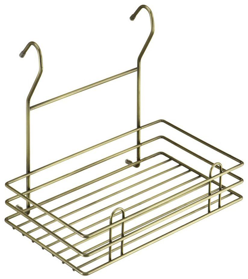 Полка кухонная Lemax Тип-II, навесная, на рейлинг, цвет: бронза, 27,5 х 15,5 х 24 смLE 520 BAПолка позволяет эффективно использовать пространство на стене. Если повесить полку над мойкой, то на нее поместятся все моющие средства. Если разместить полку над рабочей зоной, то можно поставить на нее часто используемую технику. Например, кофемолку или миксер. Изготовлена из стали, надежно крепится на трубу рейлинга, прослужит долго.