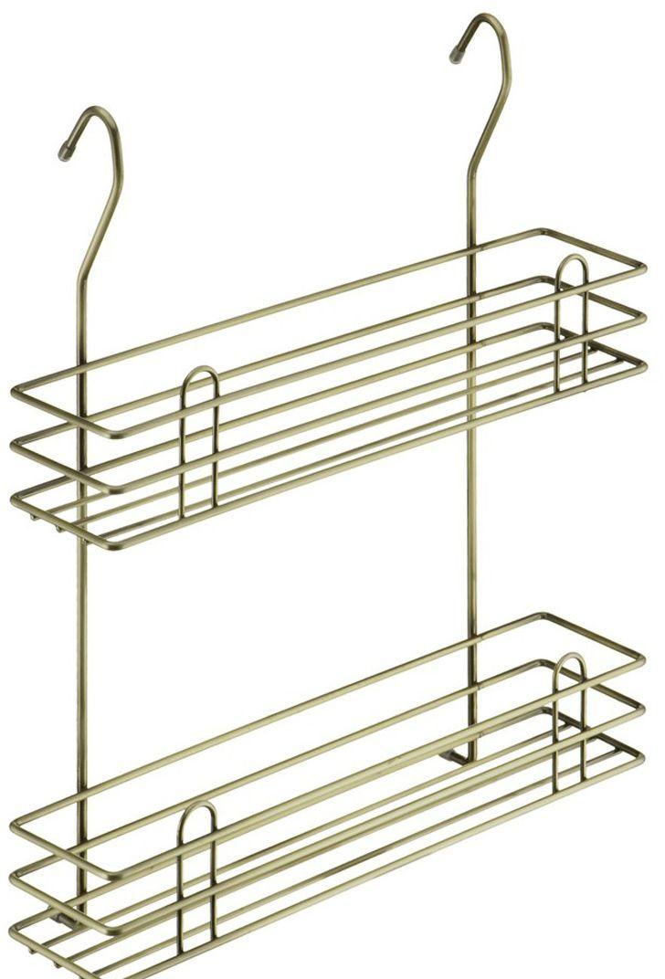 Полка для специй Lemax Тип-II, 2-ярусная, навесная, на рейлинг, цвет: бронза, 35 х 10,5 х 40 смLE 540 BAДвухъярусная полка Lemax Тип-II позволяет эффективно использовать пространство на стене, освобождая рабочую поверхность. На двойной полке поместятся все специи и соусы, и всегда будут под рукой. Изготовлена из стали, надежно крепится на трубу рейлинга, прослужит долго.