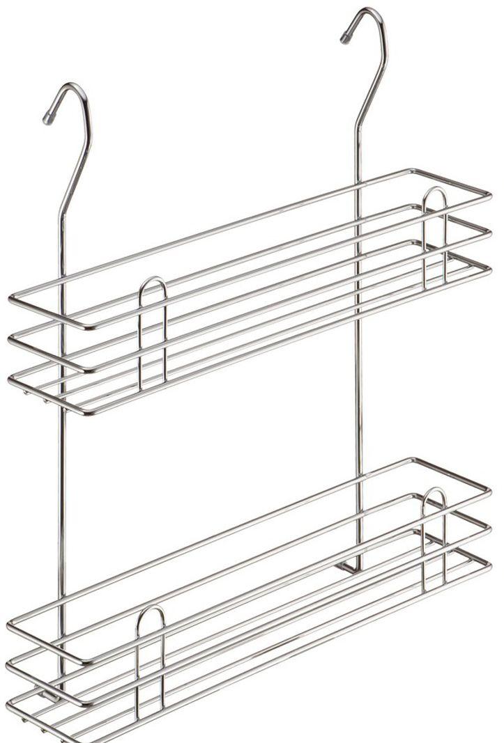 Полка для специй Lemax Тип-II, 2-ярусная, навесная, на рейлинг, цвет: хром, 35 х 10,5 х 40 смLE 540Полка позволяет эффективно использовать пространство на стене, освобождая рабочую поверхность. На двойной полке поместятся все специи и соусы, и всегда будут под рукой. Изготовлена из стали, надежно крепится на трубу рейлинга, прослужит долго.