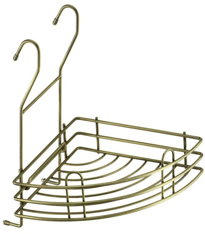 Полка угловая Lemax Тип-II, навесная, на рейлинг, цвет: бронза, 20,5 x 20,5 x 25 см полка навесная сканд мебель шервуд пш 03