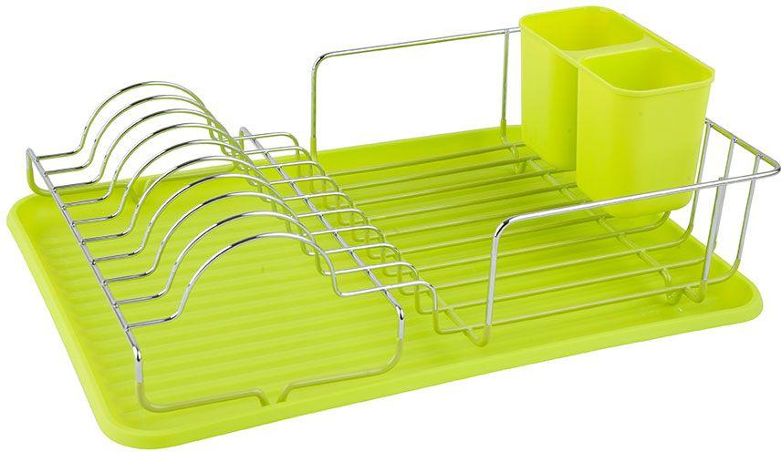 Сушилка для посуды Lemax, настольная, с поддоном, цвет: хром, зеленый, 40,5 х 29,5 х 14,5 смLF-138Посудосушитель настольный с элементами силиконового покрытия, пластиковым поддоном и стаканом для сушки столовых приборов. Размер посудосушителя: 405 х 295 х 145 мм.Цвет: хром, зеленый.Яркая индивидуальная упаковка Lemax.