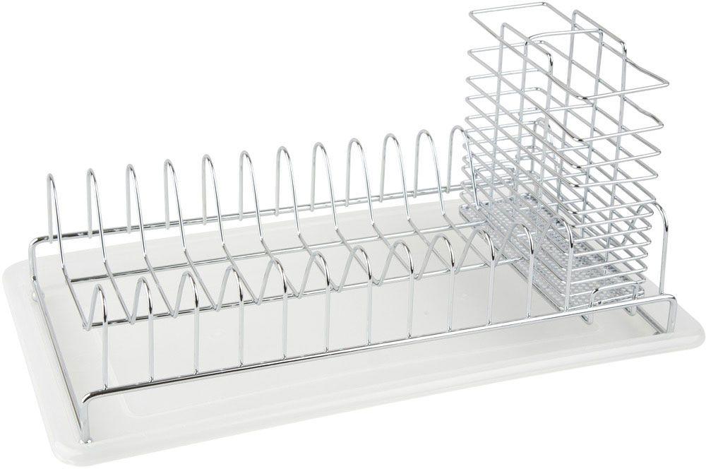 Сушилка для посуды Lemax, настольная, с поддоном, 38,3 х 19,5 х 19,3 смLF-139Сушилка для посуды Lemax изготовлена из нержавеющей стали. Онаоснащенасъемным пластиковым поддоном для сбора воды и стаканом для сушкистоловых приборов.Благодаря своей функциональности, сушилка для посуды Lemax займетдостойное место на вашей кухне и будет оченьполезналюбой хозяйке. Стильный, современный и лаконичный дизайн сделаетсушилкупрекрасным дополнением интерьера вашей кухни.Размер сушилки: 38,3 х 19,5 х 19,3 см.