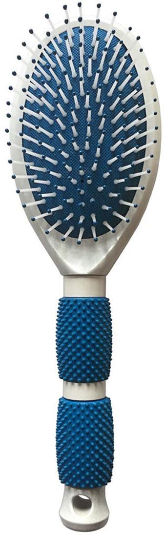 Silva Щетка для волос массажная большая с резиновыми вставками на ручке, цвет: синийSB 603Коллекция Silva Классика- это расчески, щетки и брашинги для всех типов волос. В коллекцию входят щетки спластиковой щетиной, металлической щетиной, натуральной щетиной дикого кабана. Silva использует тольконовейшие материалы, зубья расчесок и щеток изготовлены из гибкого прочного пластика. Предназначена длягустых, длинных волос. Мягкая подушка большого размера смягчает давление на кожу головы, мягко массируеткожу, улучшая поток кровообращения. На обратной стороне изделия предусмотрено зеркало.